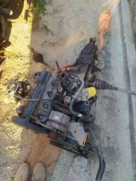 Motor e caixa