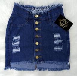 Saia jeans 36/38/40/42/44/46 disponível