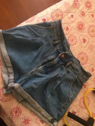 Short jeans cintura alta n42