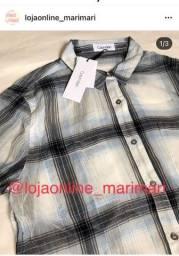 Camisa feminina xadrez Calvin Klein original