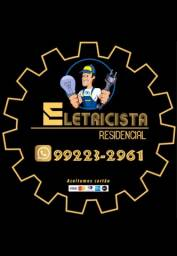 Eletricista residêncial / fianção, tomadas , quadro e equipamentos