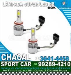 Título do anúncio: Lampada super led H8 (produtos novos e com nota fiscal)