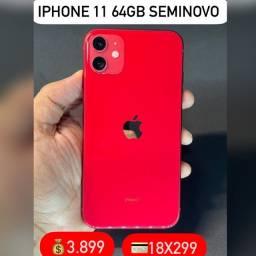 iPhone 11 64gb red, aceitamos seu iPhone usado como parte do pagamento.