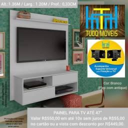 """PAINEL COM 2 PORTAS E NICHO P/ TV ATÉ 47"""""""
