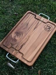 Tabua de madeira nobre com alça