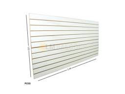 Painel Canaletado Branco 1,22 x 2,44 - Perfeito Para Exposição de Seus Produtos