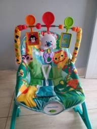 Cadeira de descanso , que vibra , toca música e o assento tem 3 posições