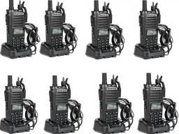 Kit 8 Rádio Comunicador Baofeng Uv-82 5W