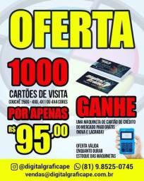 Cartão de visita - GRÁTIS MÁQUINA DE CARTAO