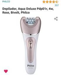 Depilador Philips Aqua Deluxe compacto e leve Rose