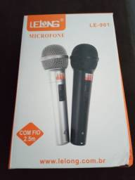 2 microfone na caixa