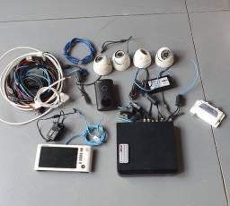 Kit de Câmeras de Segurança e Porteiro Eletrônico Intelbrás
