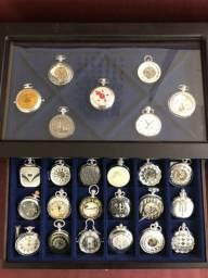 Coleção relógios de bolso históricos