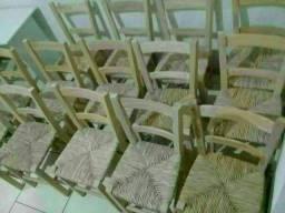 Cadeira novas com acento de palha