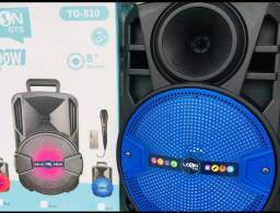 Caixa de som Amplificada com microfone e controle.