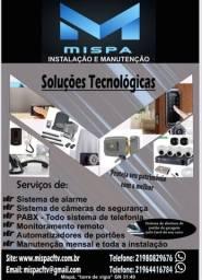 Mispa Instalação e Manutenção, interfones,CFTV, portão automático