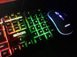 Teclado e  mouse gamer com led