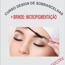 Curso de design de sobrancelhas + micropigmentação