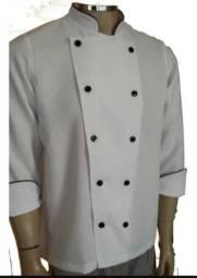 Dolma Cheff de cozinha(nova) branca e preto M