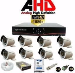 Cftv dvr 8 Canais Câmeras de segurança Full HD 2mp