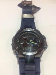 Relógio masculino Casio g shock caixa de ferro