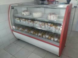Balcão freezer espositor gelado
