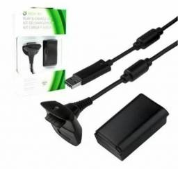 Kit Play And Charge Bateria Controle Xbox 360 + Cabo Usb