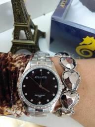 Relógios feminino Atlantis aprova de água 130