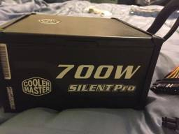 Cooler Master 700w Silent Pro M700w + Cabos Sata