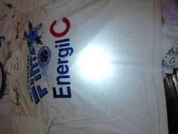 Camisa de treino do Cruzeiro autografada