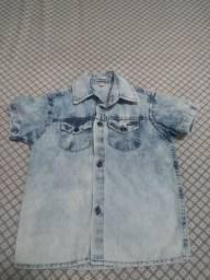 Camisa jeans tamanho 1 ano e camisa polo Malwee