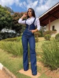 Jardineira/macacão NOVO Jeans Flare Feminina C/lycra