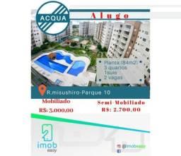 Alugo Acqua 3 quartos sendo 2 suites semi-Mobiliado