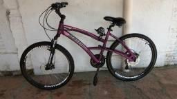Bike aro 26 alumínio Hidráulica Shimano Confort