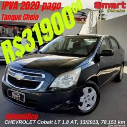 Smart Veículos - Chevrolet Cobalt LT 1.8 AT, 13/2013, 78.151 Km R$ 33.900,00 - 2013