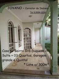 (R$650.000) Casa c/ Suíte + 03 Quartos, Garagem e Quintal - Bairro Grã-Duquesa