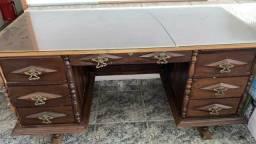 Escrivaninha de Madeira Antiga 1,60x0,75
