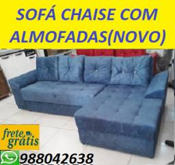 Preço Bom Demais!!Sofa Chaise +3 Lugares Com Almofadas Novo Apenas 799,00