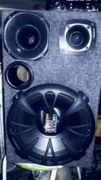 Trio Completo mais caixa Sub-woofer Free Sound