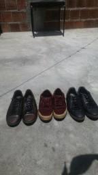 Sapatos número 42 em bom estado 3 pares