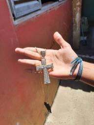 Pingente Cravejado Big Cross