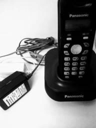 Telefone sem fio Panasonic preto com identificador de chamadas POR ...