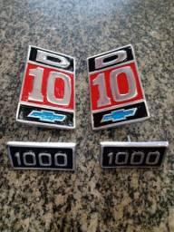 Kit Emblema Paralama D10 1000 alumínio