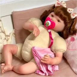 Boneca Bebê Eloise + Acessórios Membros em Vinil