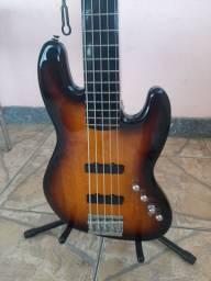 Baixo Squier 5c Ativo Jazz Bass Deluxe Sb