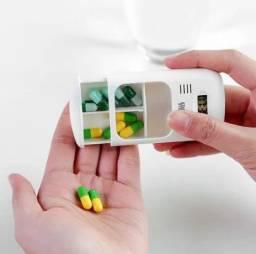 Porta comprimidos de bolso digital com Alarme