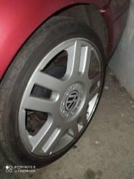 Roda Passat Vr6 17 pneu Pirelli troco por aro 15 ou 14