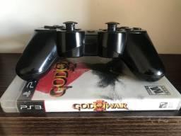 PS3 slim com 8 jogos e controle