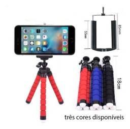 mini tripé universal flexível suporte celular câmeras regulável