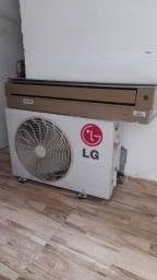 Vendo ar condicionado 9.000 BTUs LG serpentina de alumínio